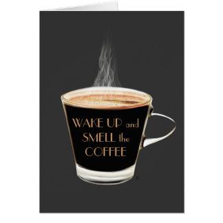 Acorde o cheiro o cartão de aniversário do café