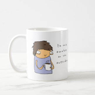 Acorde somente na caneca de café cómica engraçada