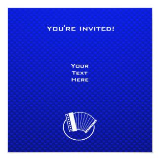 Acordeão azul convite quadrado 13.35 x 13.35cm