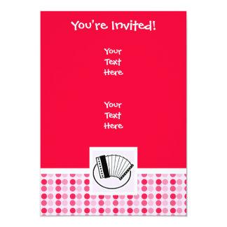 Acordeão bonito convites personalizados
