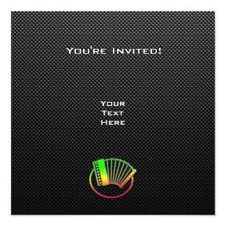 Acordeão lustroso convite personalizado
