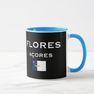 Açores - caneca de café do mapa de Flores