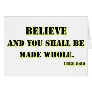 Acredite, 8:50 de Luke Cartão Comemorativo