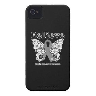 Acredite - a borboleta do cancro cerebral capinha iPhone 4