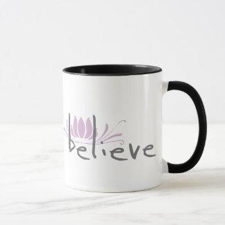 Acredite a caneca de café
