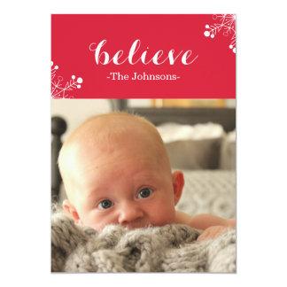 Acredite cartões de foto de Natal Convite 12.7 X 17.78cm