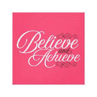 Acredite e consiga o impressão cor-de-rosa das