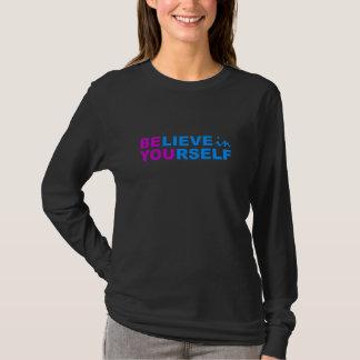 Acredite em o senhor mesmo a camisa - escolha o