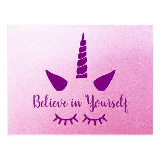 Acredite em o senhor mesmo o cartão roxo