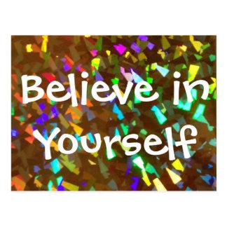 Acredite em o senhor mesmo o cartão Sparkly Cartão Postal