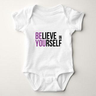 Acredite em o senhor mesmo - seja você body para bebê
