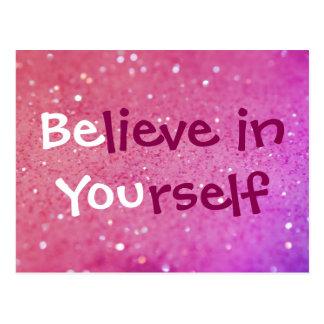 Acredite em o senhor mesmo (seja você) o cartão