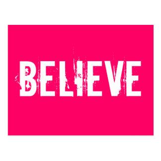 Acredite - inspire, motive, pique cartão