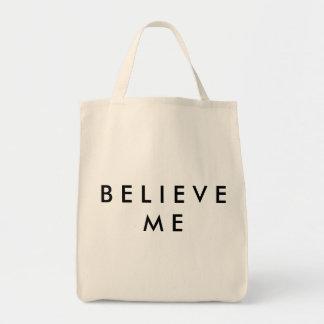Acredite-me o bolsa do mantimento