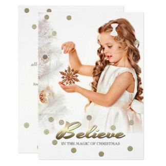Acredite na mágica do Natal. Cartões com fotos