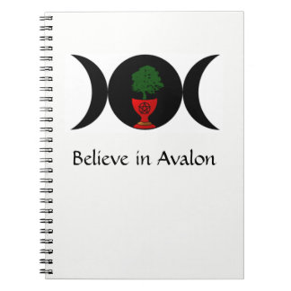 Acredite no caderno espiral de Avalon