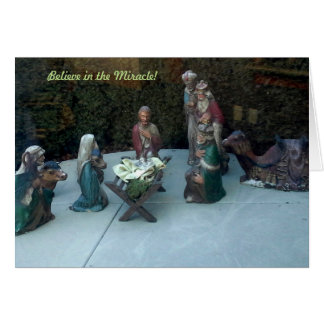 Acredite no milagre cartão