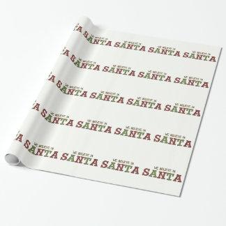 Acredite no papel de papel de embrulho do Natal do