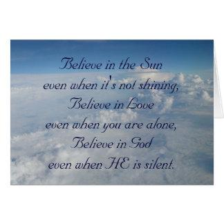 Acredite no Sun Cartão Comemorativo