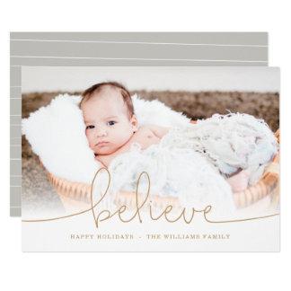 Acredite o cartão com fotos do feriado convite 12.7 x 17.78cm