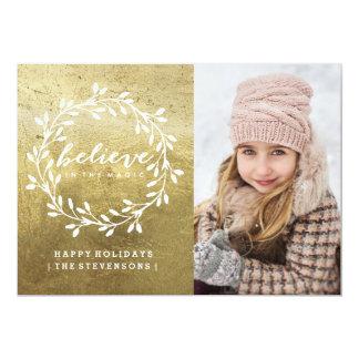 Acredite o cartão dourado do feriado de |