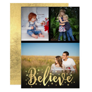 Acredite o cumprimento da foto do Natal 3 da Convite 12.7 X 17.78cm