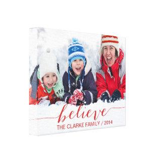 Acredite simplesmente cartões de natal impressão em tela canvas