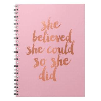 Acreditou que poderia - caderno