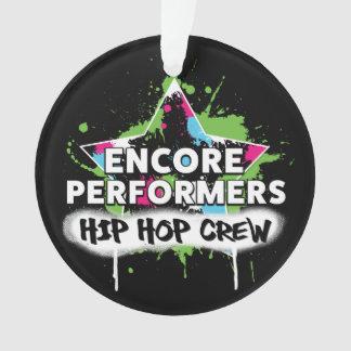 ACRÍLICO do ornamento da EQUIPE de Hip Hop