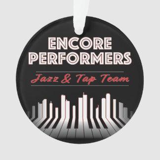 ACRÍLICO do ornamento do jazz & da equipe da