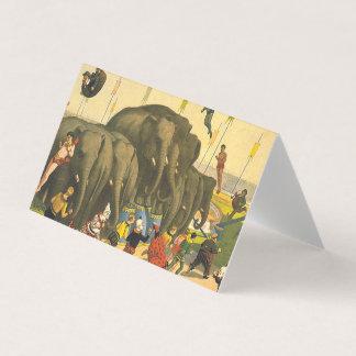 Acrobatas do elefante do T