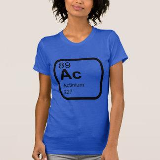Actínio - design da ciência da mesa periódica camiseta