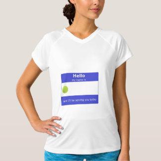 Activewear do nome de etiqueta do tênis camiseta