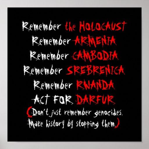 Activismo: Apenas não recorde genocídios… Impressão