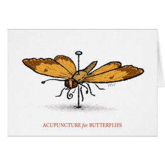 Acupunctura para o cartão das borboletas