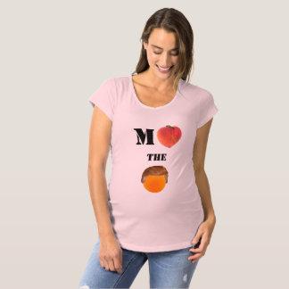 Camiseta Acuse a camisa de maternidade alaranjada