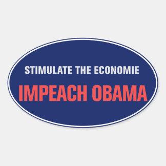 Acuse a etiqueta de Obama Adesivos Ovais