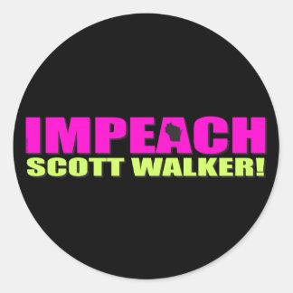Acuse o caminhante de Scott Adesivo
