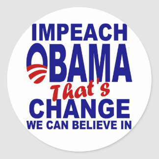 Acuse Obama Adesivo Em Formato Redondo