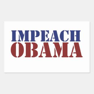 Acuse Obama Adesivo Em Formato Retângular