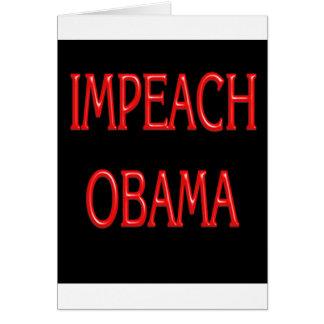 Acuse Obama Cartão Comemorativo