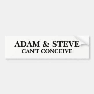 Adam e Steve Adesivo Para Carro