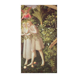 Adam e véspera expelidos do paraíso impressão em tela