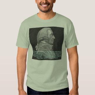 """Adam Smith (mão invisível), """"cada individual… T-shirts"""
