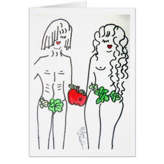 Adam & véspera cartão comemorativo