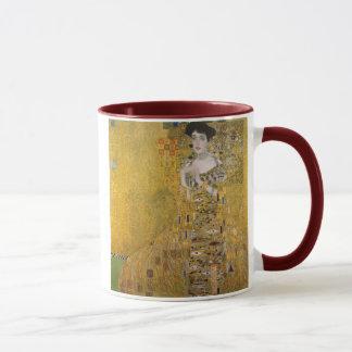 Adele Bloch-Bauer mim caneca de Gustavo Klimt