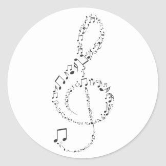 Adesivo Clave de Sol Músical