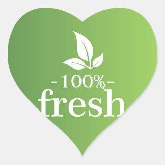 Adesivo Coração 100% fresco