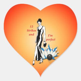 Adesivo Coração 12 greves e eu somos #1 perfeitos