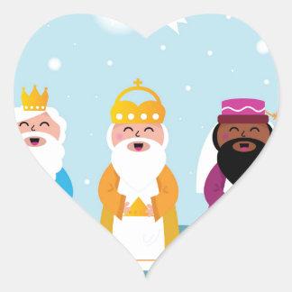 Adesivo Coração 3 reis pintados mão